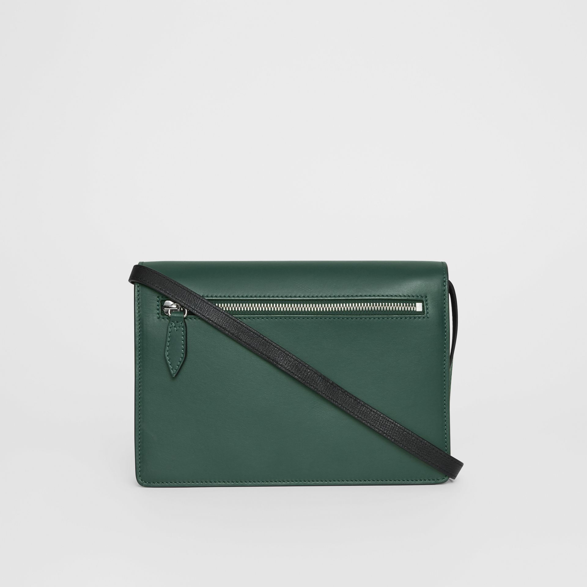 Two-tone Leather Crossbody Bag in Black/sea Green - Women | Burberry - gallery image 7