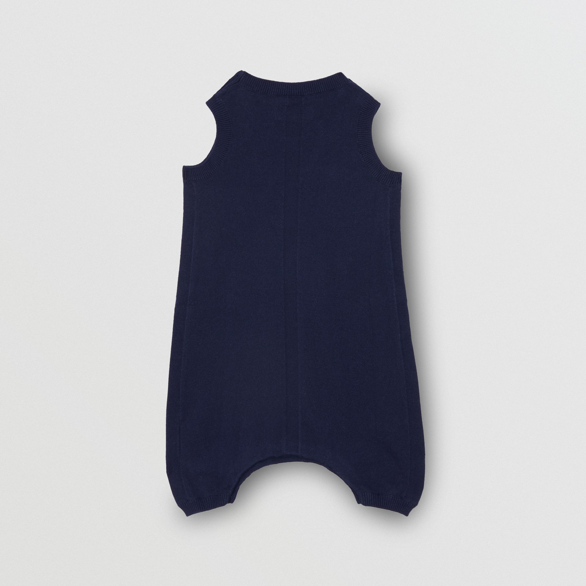 Logo Print Cotton Bodysuit in Indigo - Children | Burberry United Kingdom - gallery image 2