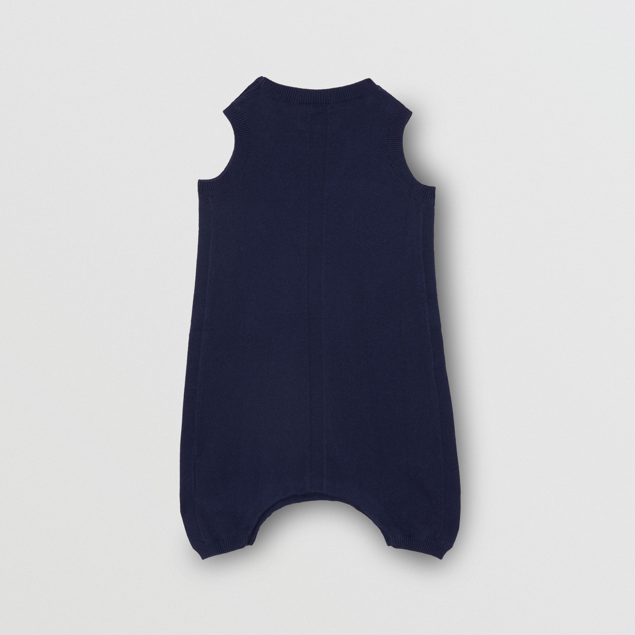 Logo Print Cotton Bodysuit in Indigo | Burberry - 3
