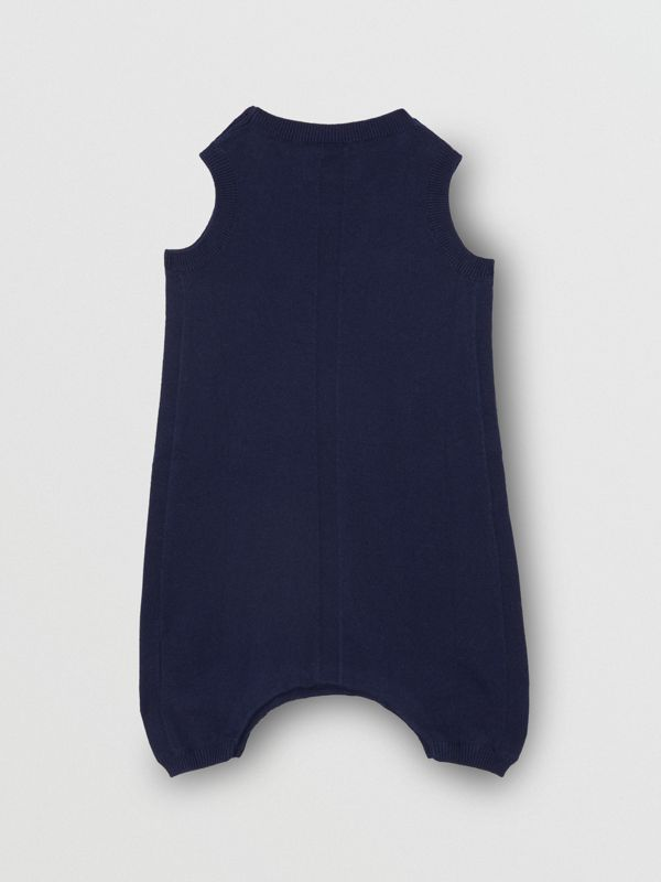 Logo Print Cotton Bodysuit in Indigo - Children | Burberry - cell image 2