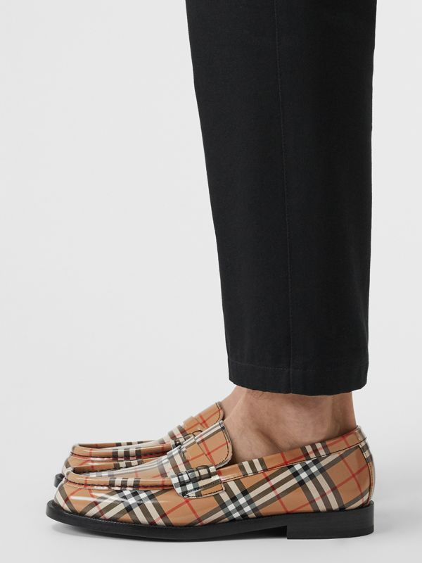 Gosha x Burberry Check Leather Loafers in Antique Yellow - Men | Burberry - cell image 2