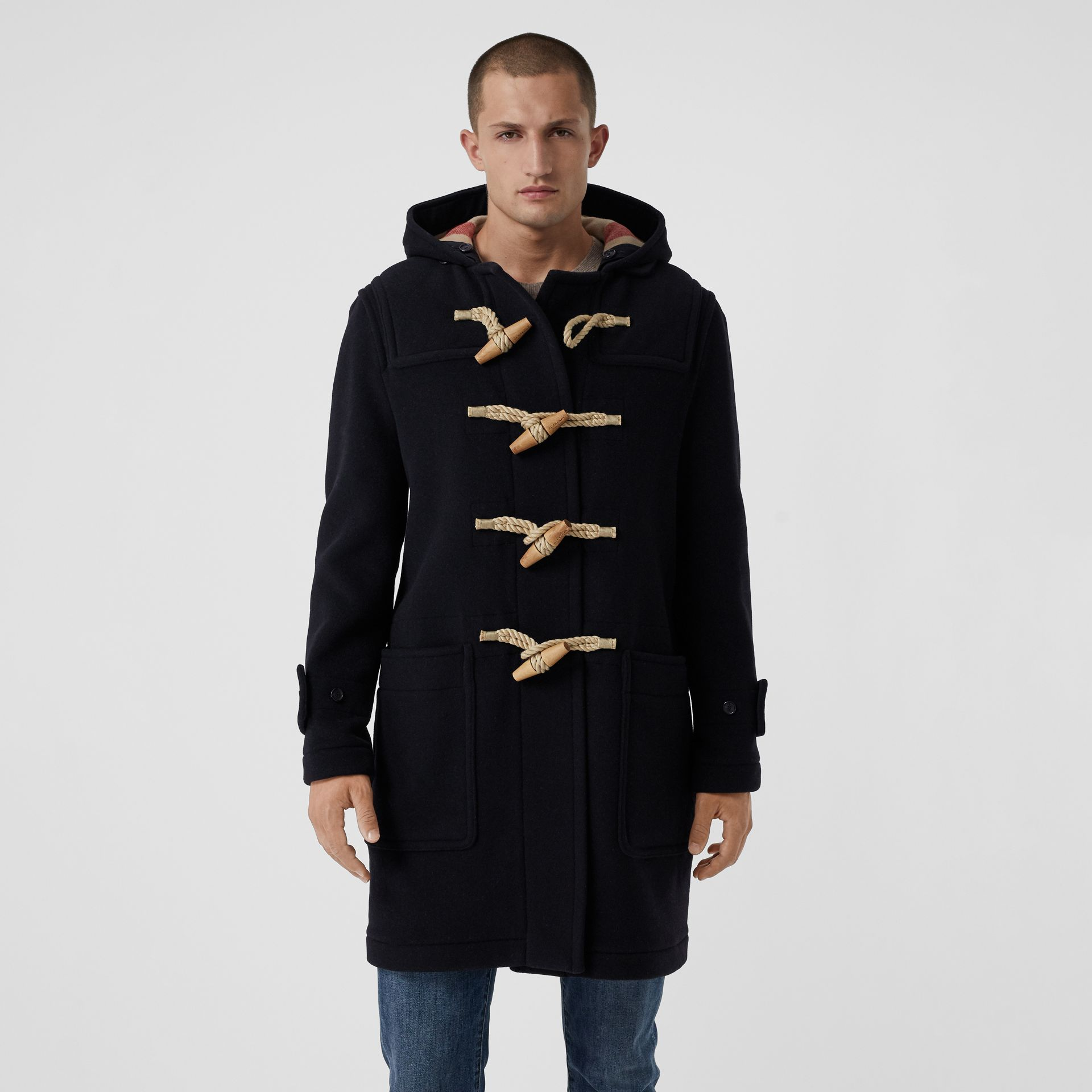The Greenwich Duffle Coat in Navy - Men | Burberry Canada - gallery image 5