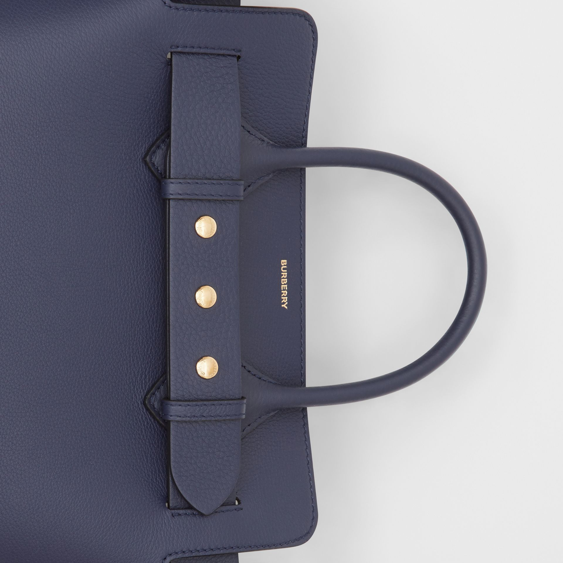 The Small Leather Triple Stud Belt Bag in Regency Blue - Women | Burberry - gallery image 1