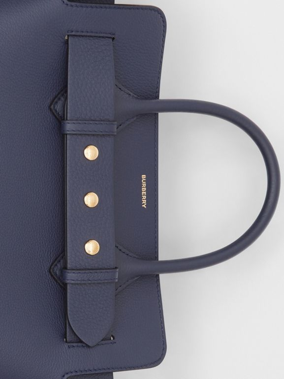 The Small Leather Triple Stud Belt Bag in Regency Blue - Women | Burberry - cell image 1