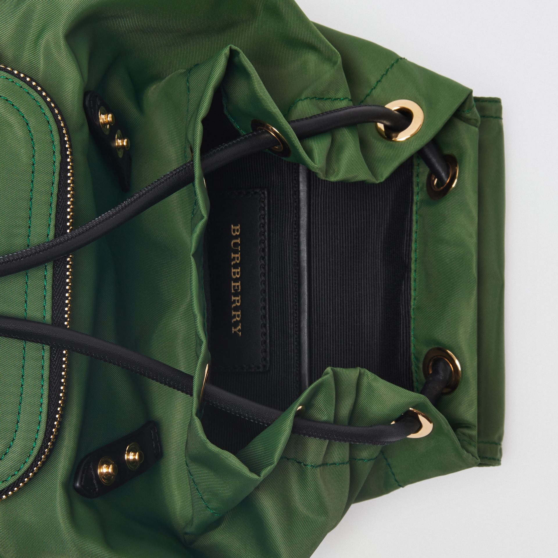 The Small Crossbody Rucksack in Nylon in Racing Green - Women | Burberry Hong Kong - gallery image 5