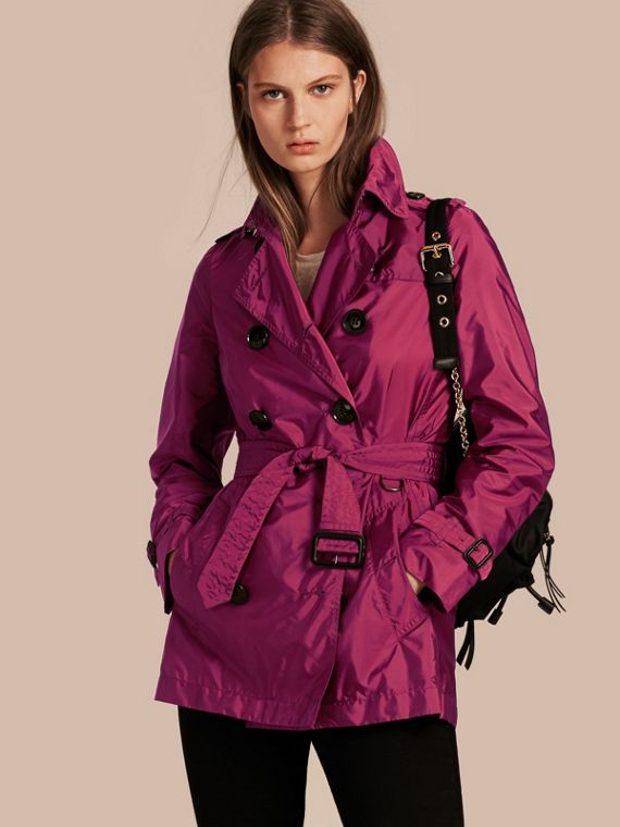 Lightweight Trench Coat Berry Pink