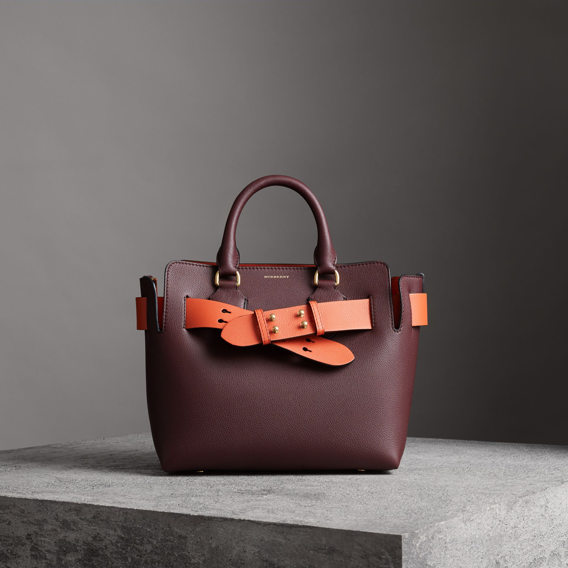 The Small Leather Belt Bag in Deep Claret - Women | Burberry Singapore - gallery image 0