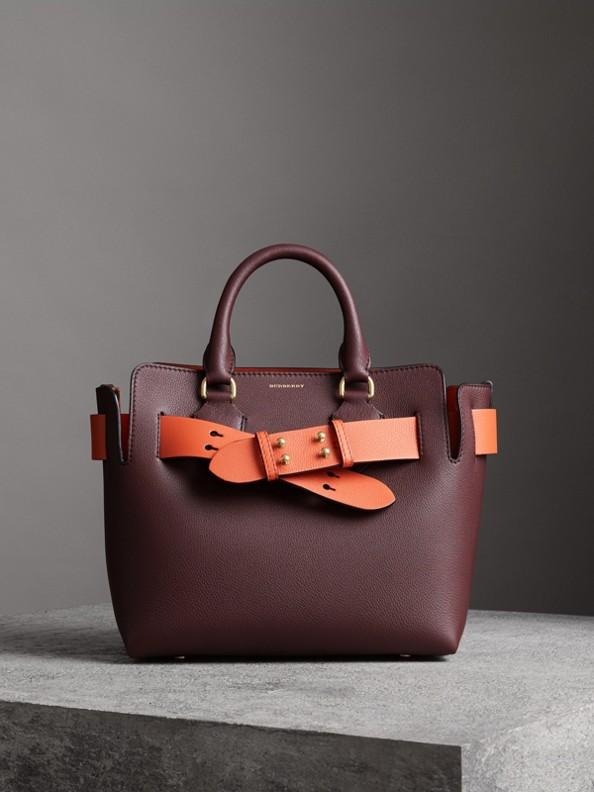 Bolsa Belt em couro - Pequena (Claret Escuro)