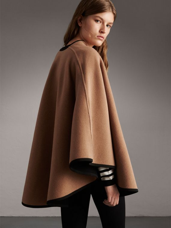Wool Cashmere Military Cape in Camel/black - Women | Burberry Singapore - cell image 2