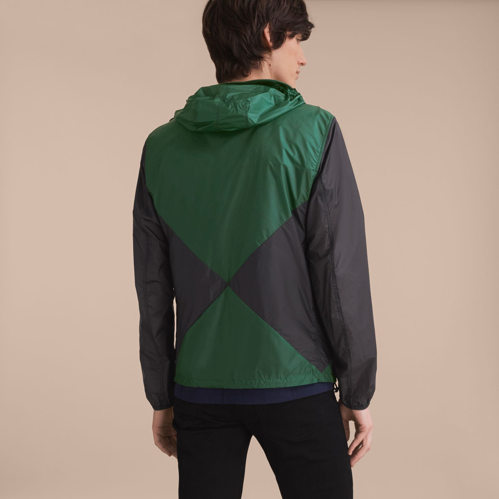Ultra-lightweight Geometric Motif Technical Jacket with Hood - gallery image 3