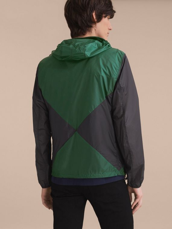 Ultra-lightweight Geometric Motif Technical Jacket with Hood - cell image 2