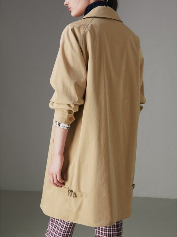 Tropical Gabardine Car Coat in Oatmeal - Women | Burberry - cell image 2