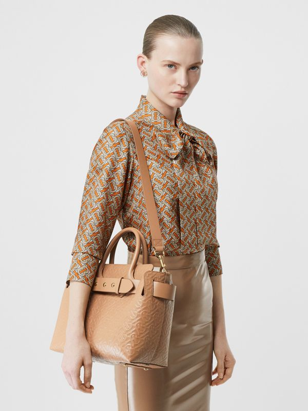 The Small Monogram Leather Triple Stud Belt Bag in Light Camel - Women | Burberry - cell image 2