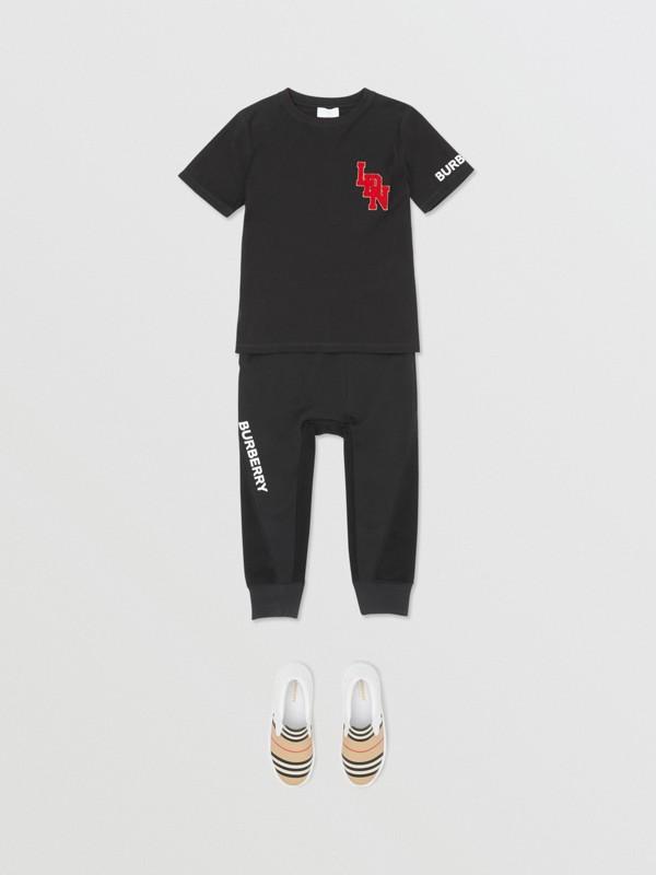 로고 그래픽 코튼 티셔츠 (블랙) | Burberry - cell image 2