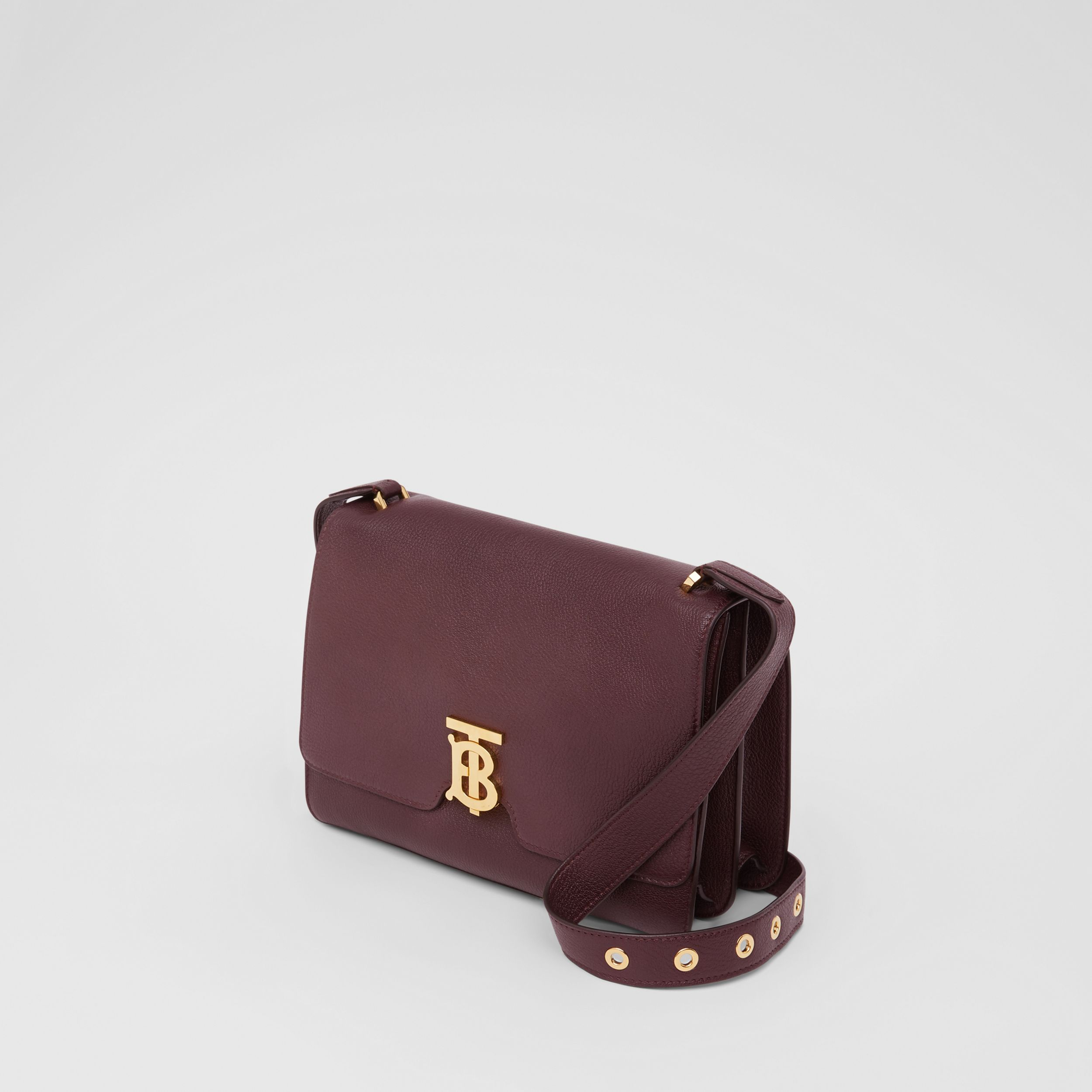 Medium Grainy Leather Alice Bag in Deep Claret - Women | Burberry - 4