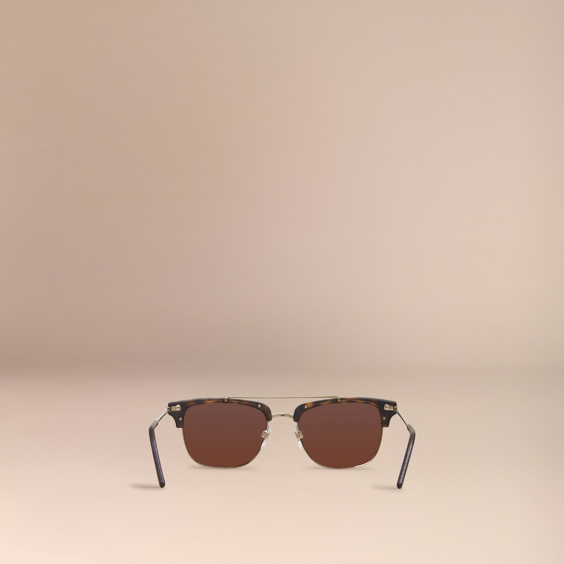 Square Frame Sunglasses Brown - gallery image 4