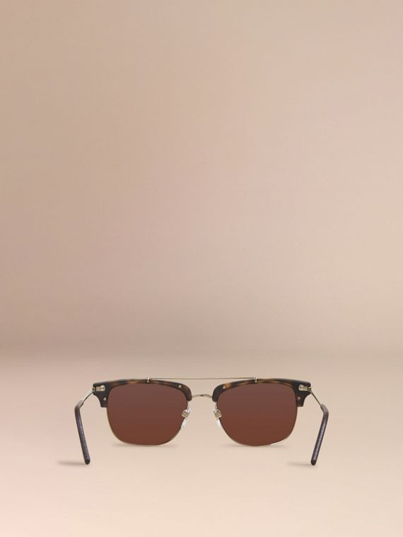Brown Square Frame Sunglasses Brown - cell image 3