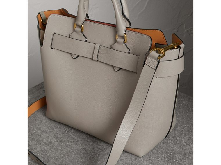 The Medium Leather Belt Bag in Mineral Grey - Women | Burberry Hong Kong - cell image 4