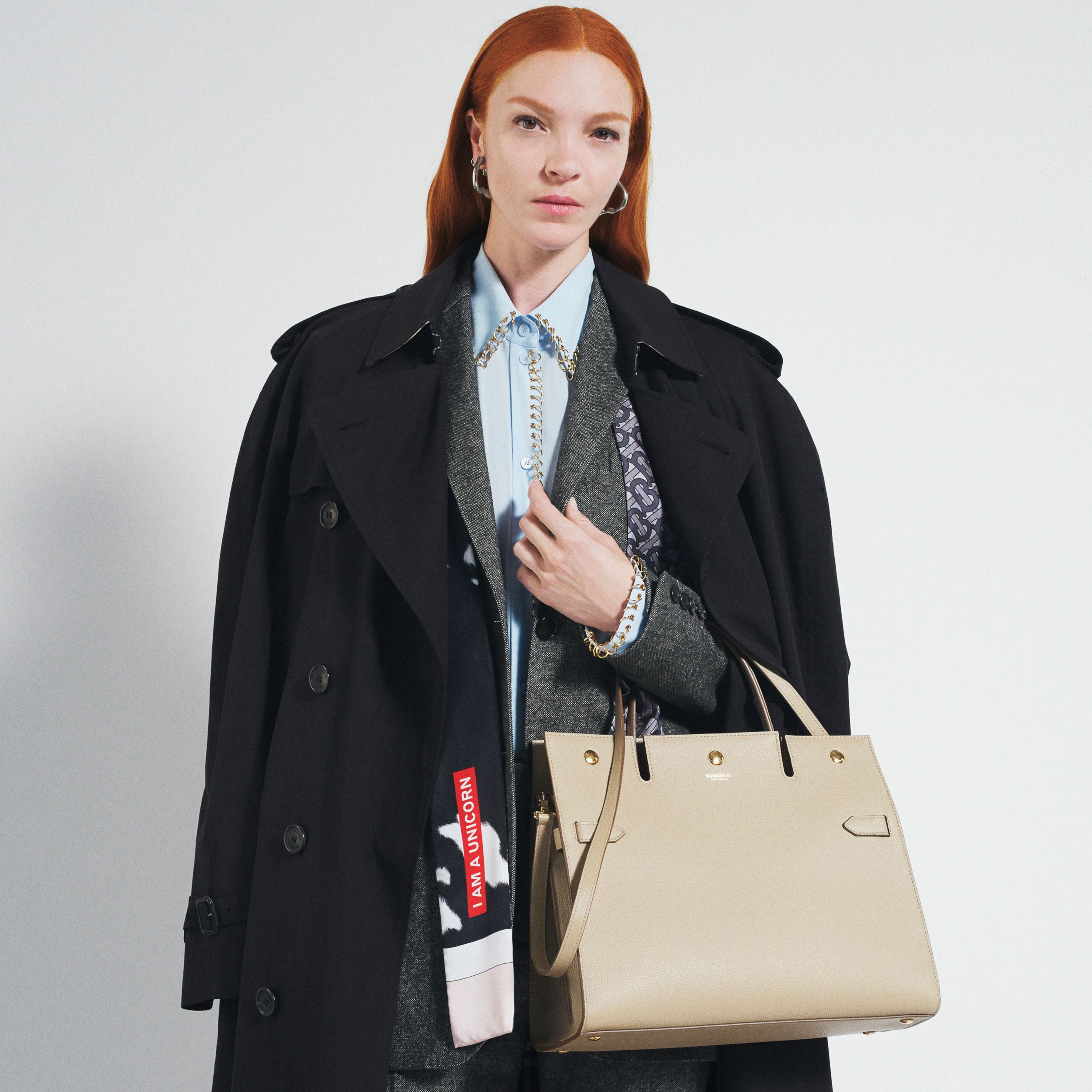 Small Leather Title Bag in Honey - Women | Burberry - 2