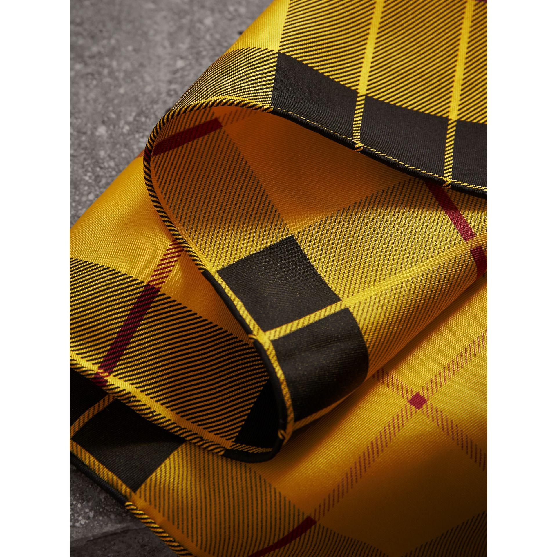 The Burberry Bandana in Check Silk in Vibrant Yellow | Burberry United Kingdom - gallery image 1