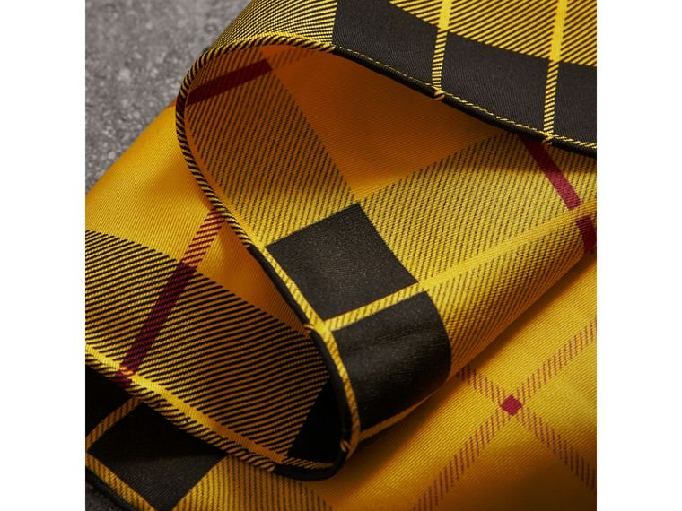 The Burberry Bandana in Check Silk in Vibrant Yellow | Burberry United Kingdom - cell image 1