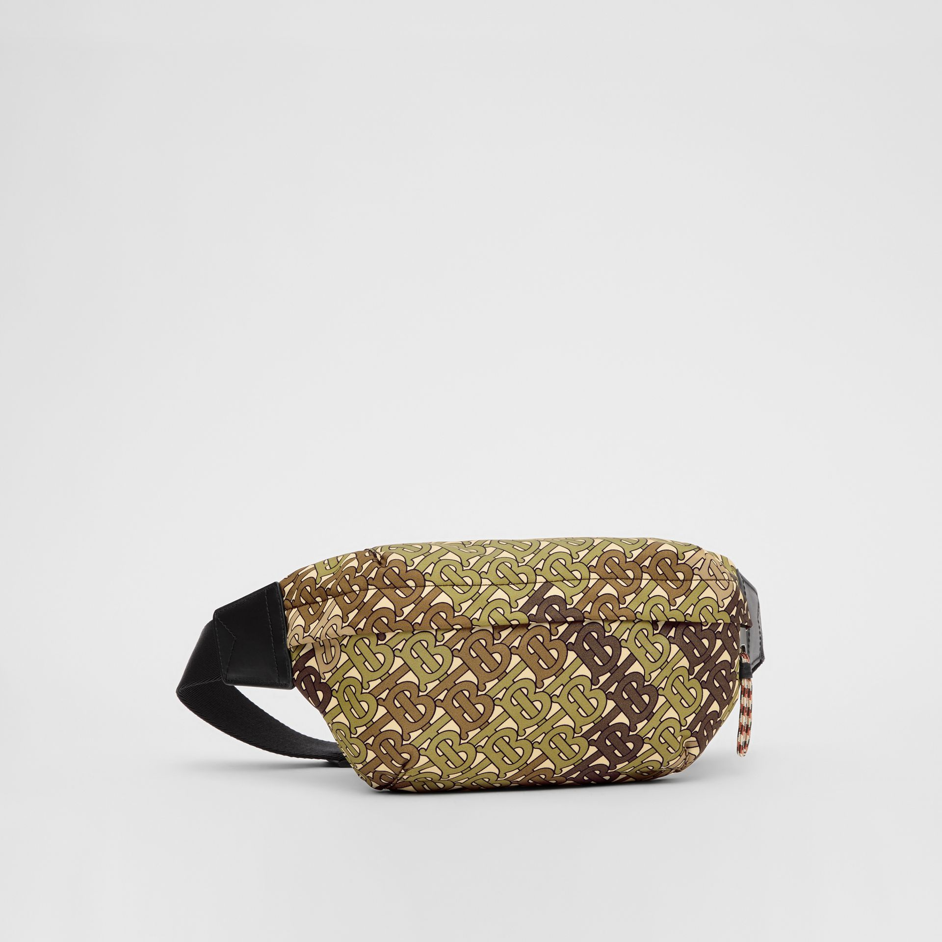 Medium Monogram Print Bum Bag in Khaki Green | Burberry Canada - gallery image 8
