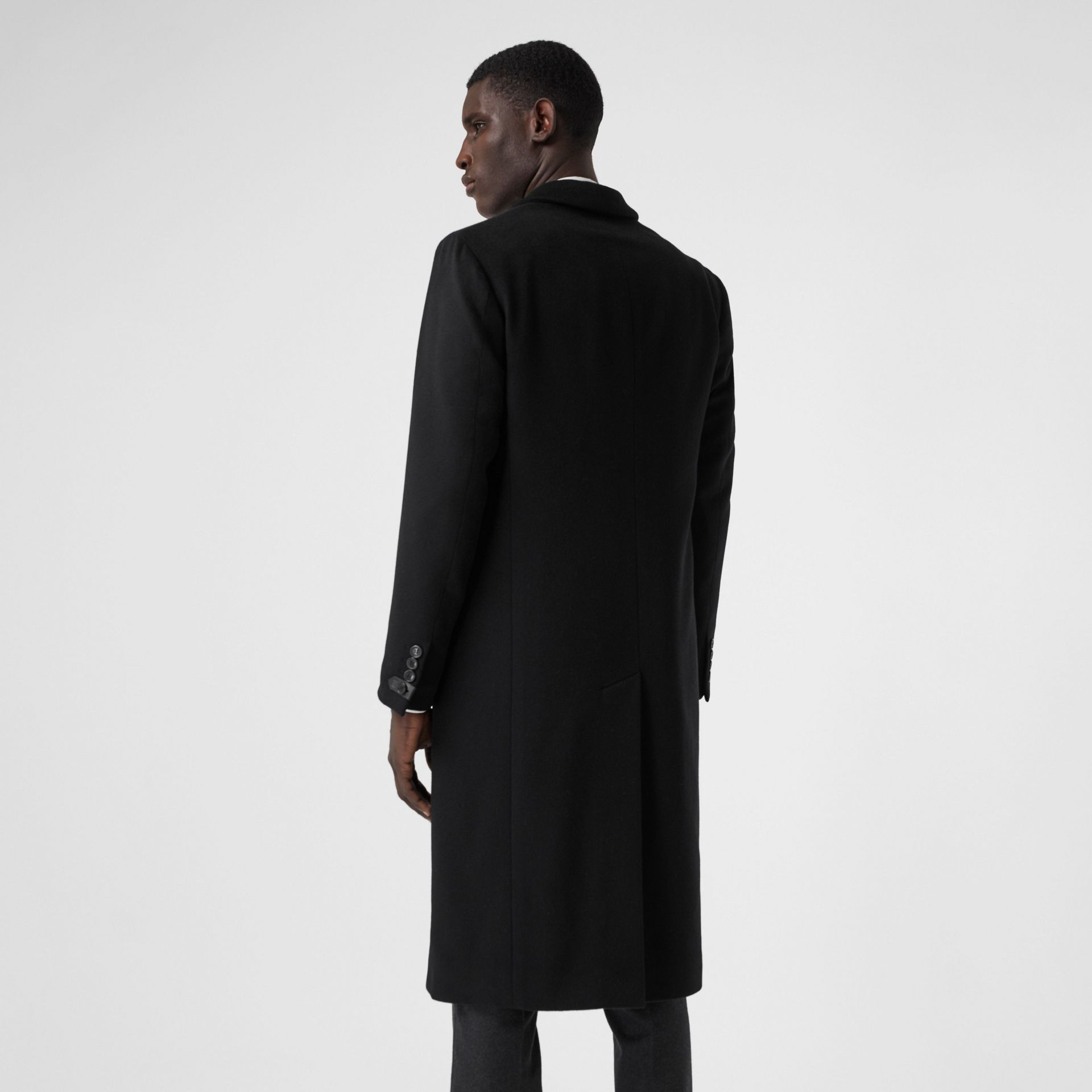 Double-faced Cashmere Tailored Coat in Black - Men | Burberry - gallery image 2