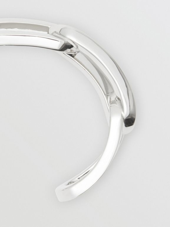 Bracciale con maglie a catena placcato in palladio - Donna | Burberry - cell image 1