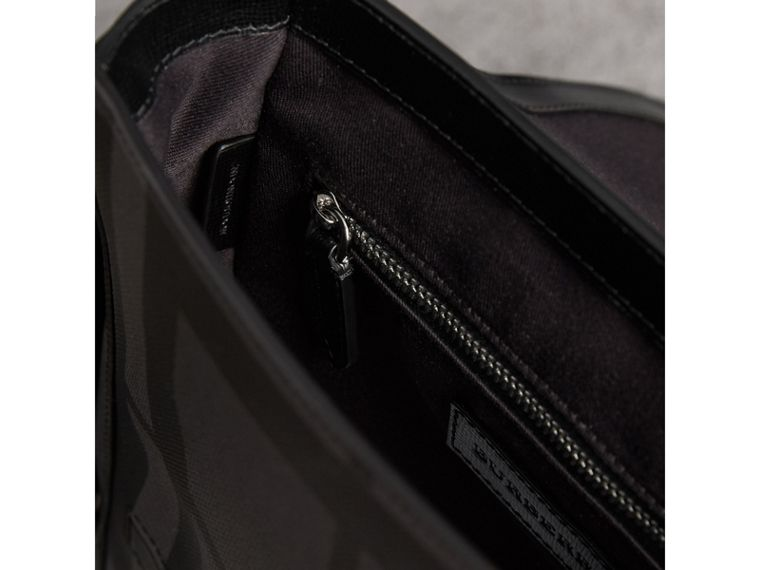 London Check Crossbody Bag in Charcoal/black - Men | Burberry United States - cell image 4