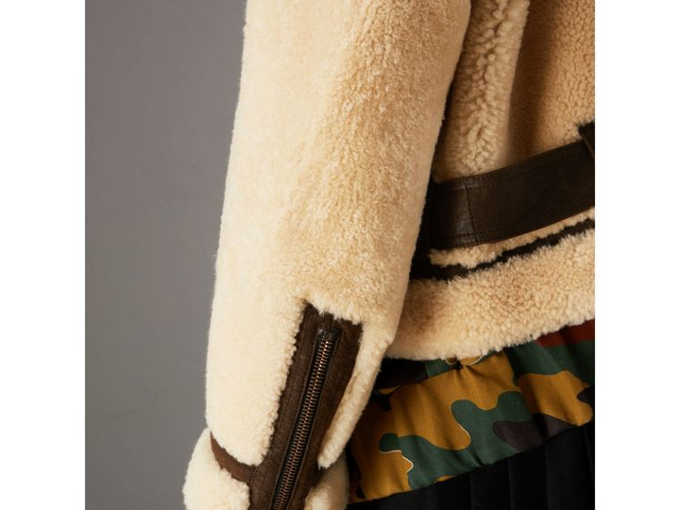 Reissued 2010 Shearling Aviator in Sand | Burberry - cell image 4