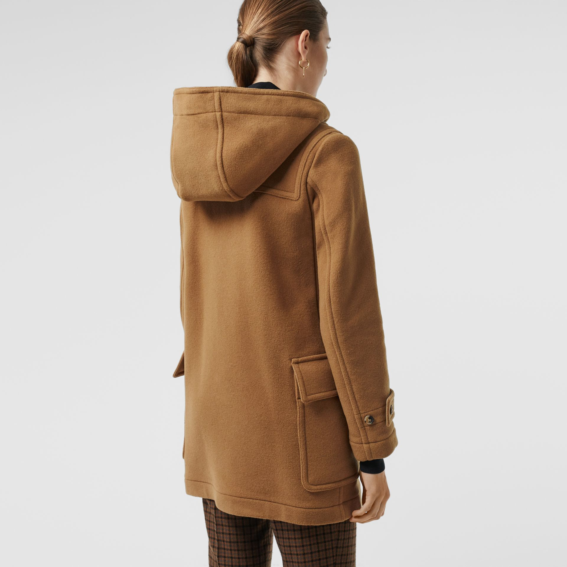 Wool Blend Duffle Coat in Camel - Women | Burberry United Kingdom - gallery image 2