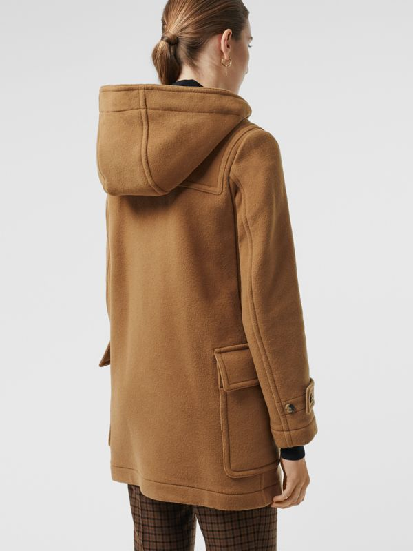 Wool Blend Duffle Coat in Camel - Women | Burberry - cell image 2