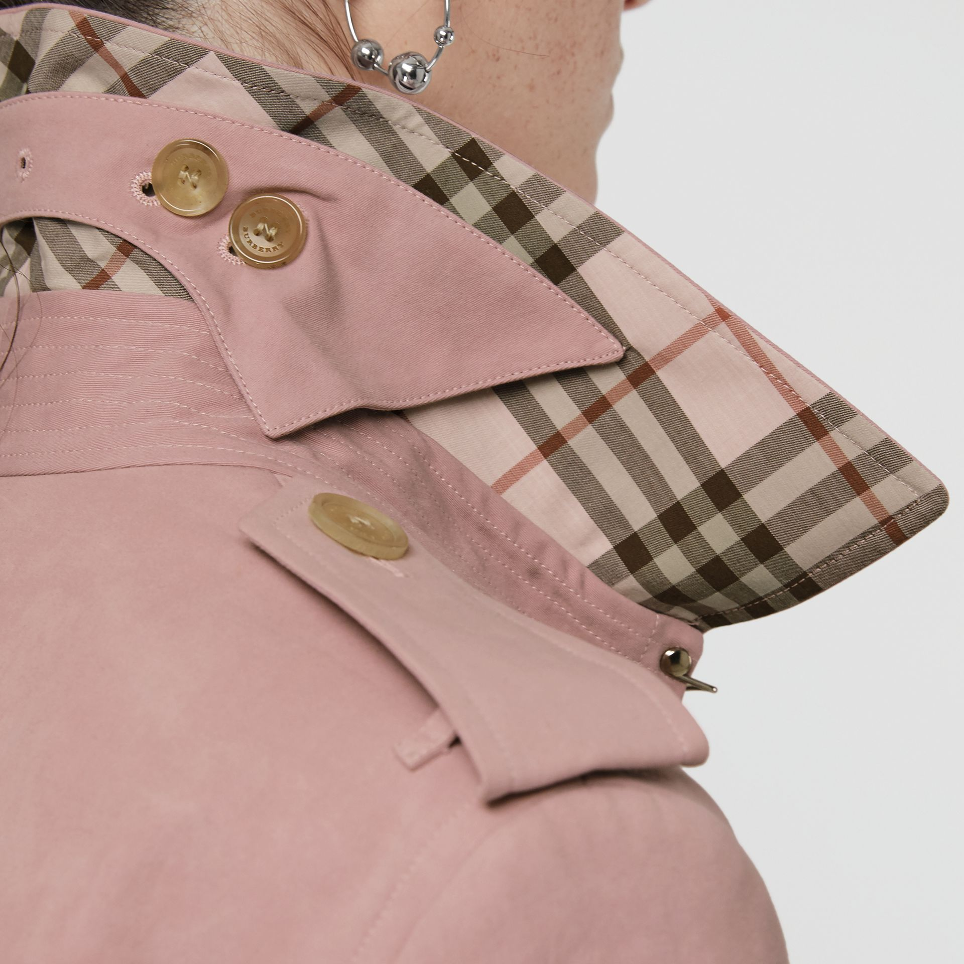 Tropical Gabardine Trench Coat in Chalk Pink - Women | Burberry - gallery image 5