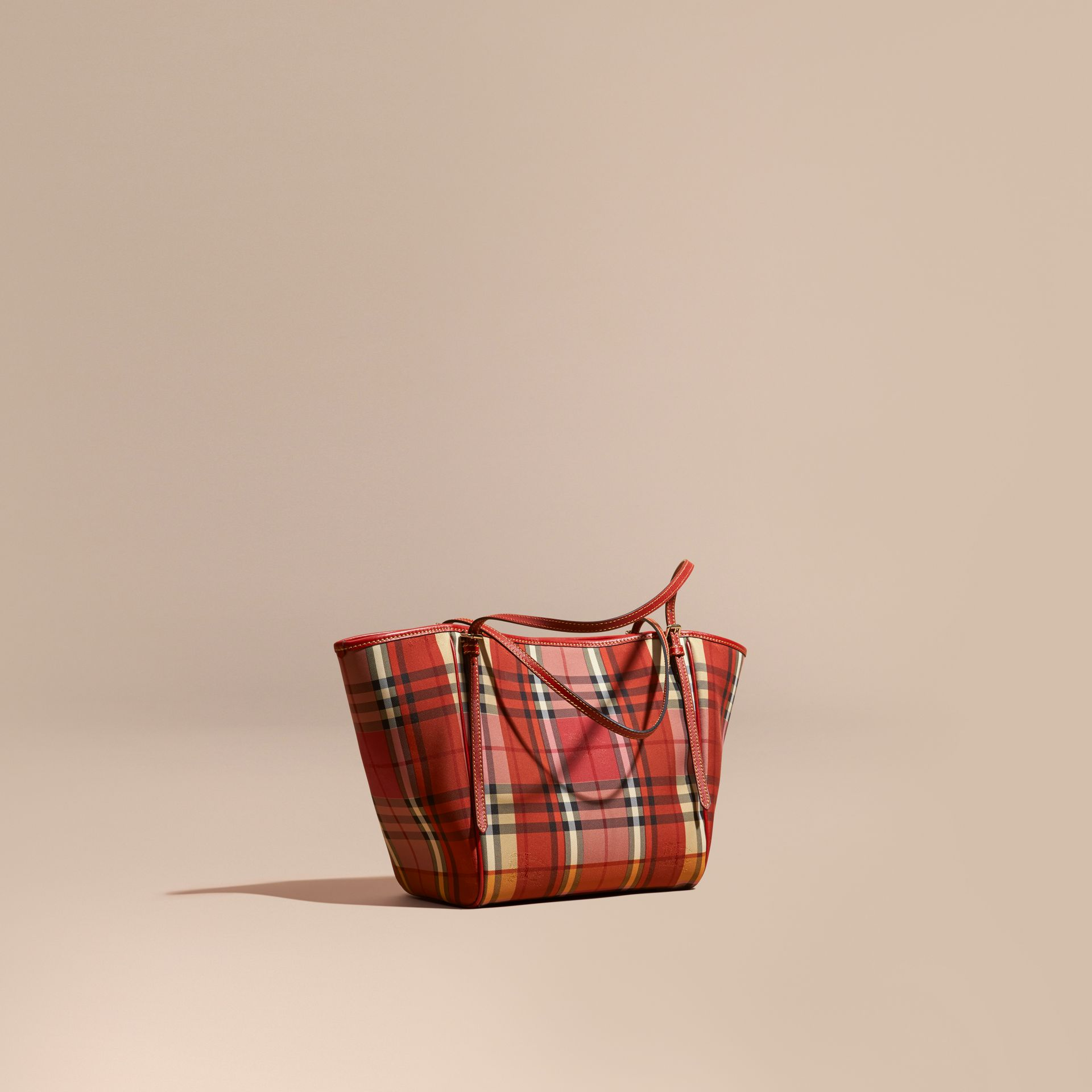 Rouge parade Petit sac The Canter avec motif Horseferry check surteint - photo de la galerie 1