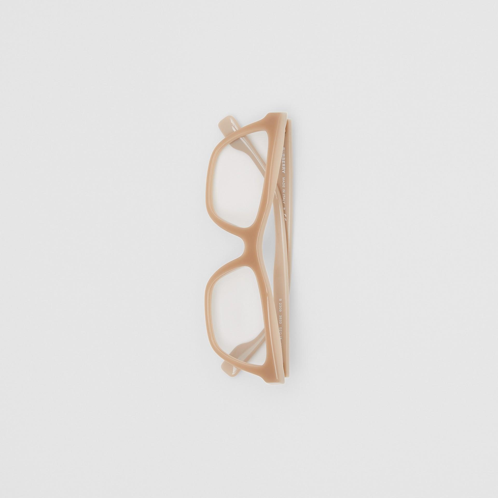 Rectangular Optical Frames in Peach - Women | Burberry - gallery image 2