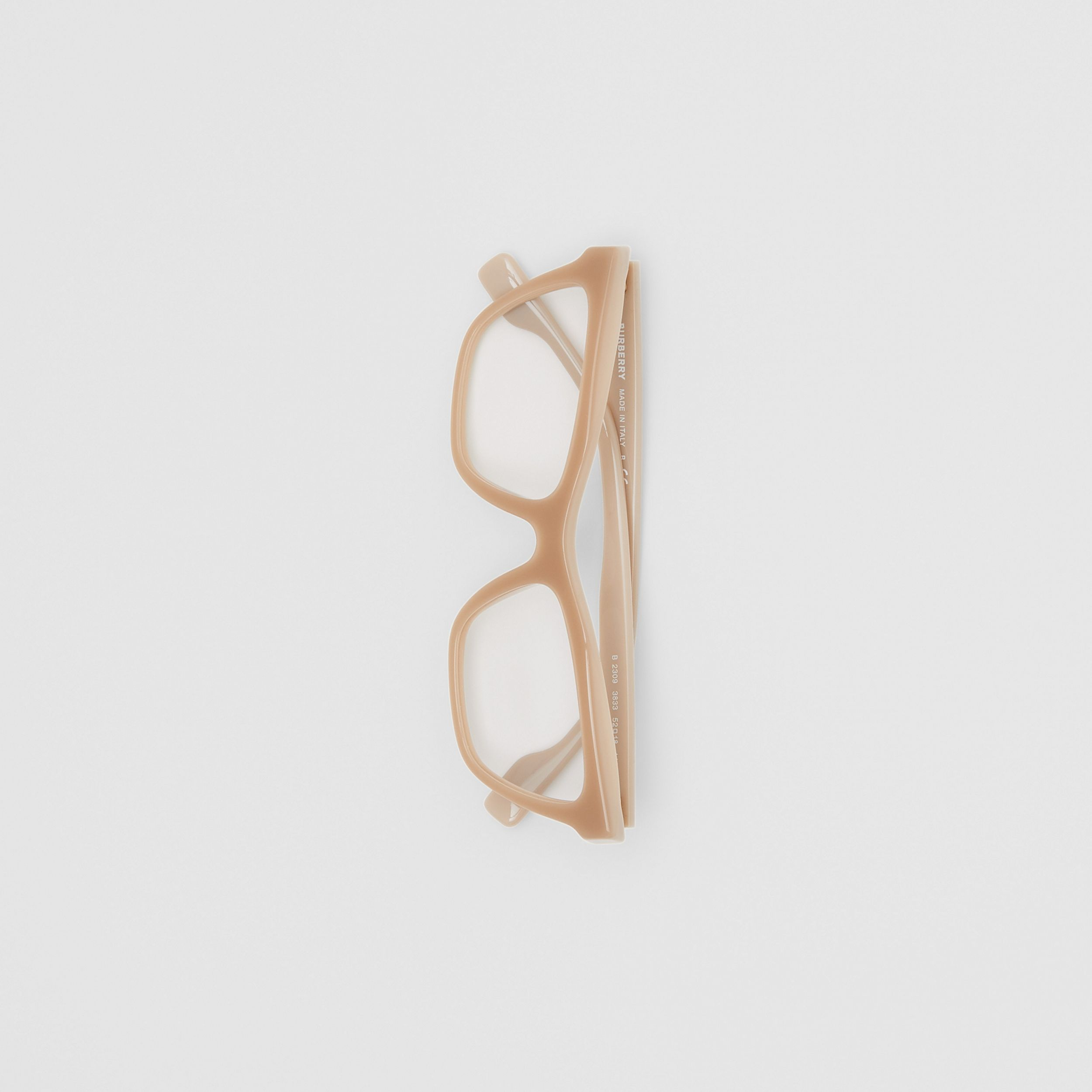 Rectangular Optical Frames in Peach - Women | Burberry - 4