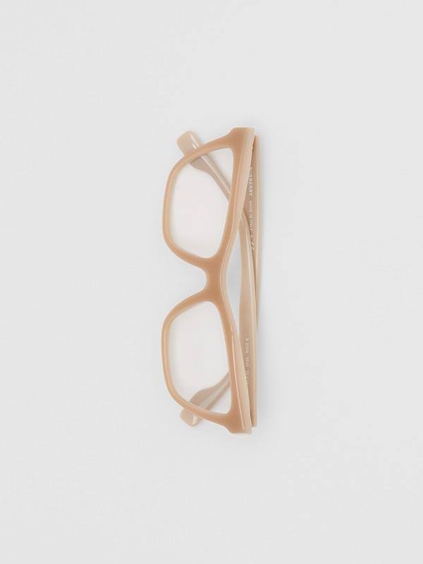 Rectangular Optical Frames in Peach - Women | Burberry Australia - cell image 3