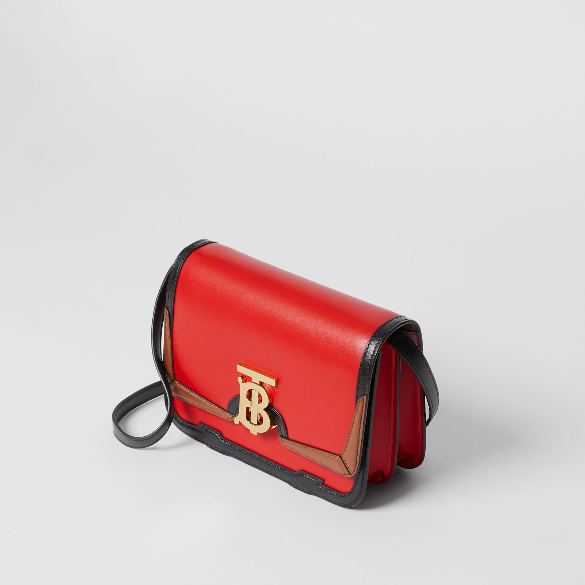 Small Appliqué Leather TB Bag in Bright Red - Women | Burberry United States - gallery image 3