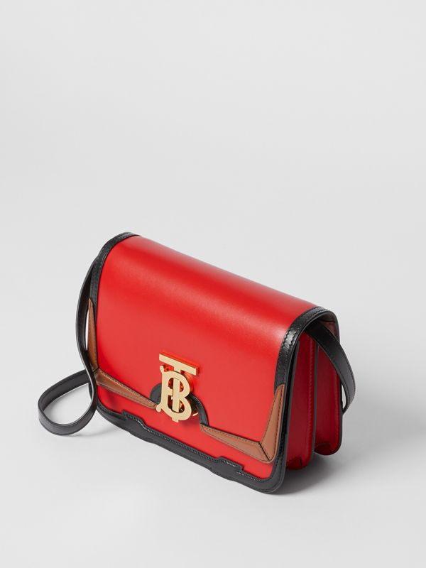 Small Appliqué Leather TB Bag in Bright Red - Women | Burberry United States - cell image 3