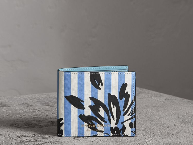 Floral Stripe Print International Bifold Wallet in Patchwork - Men | Burberry - cell image 4
