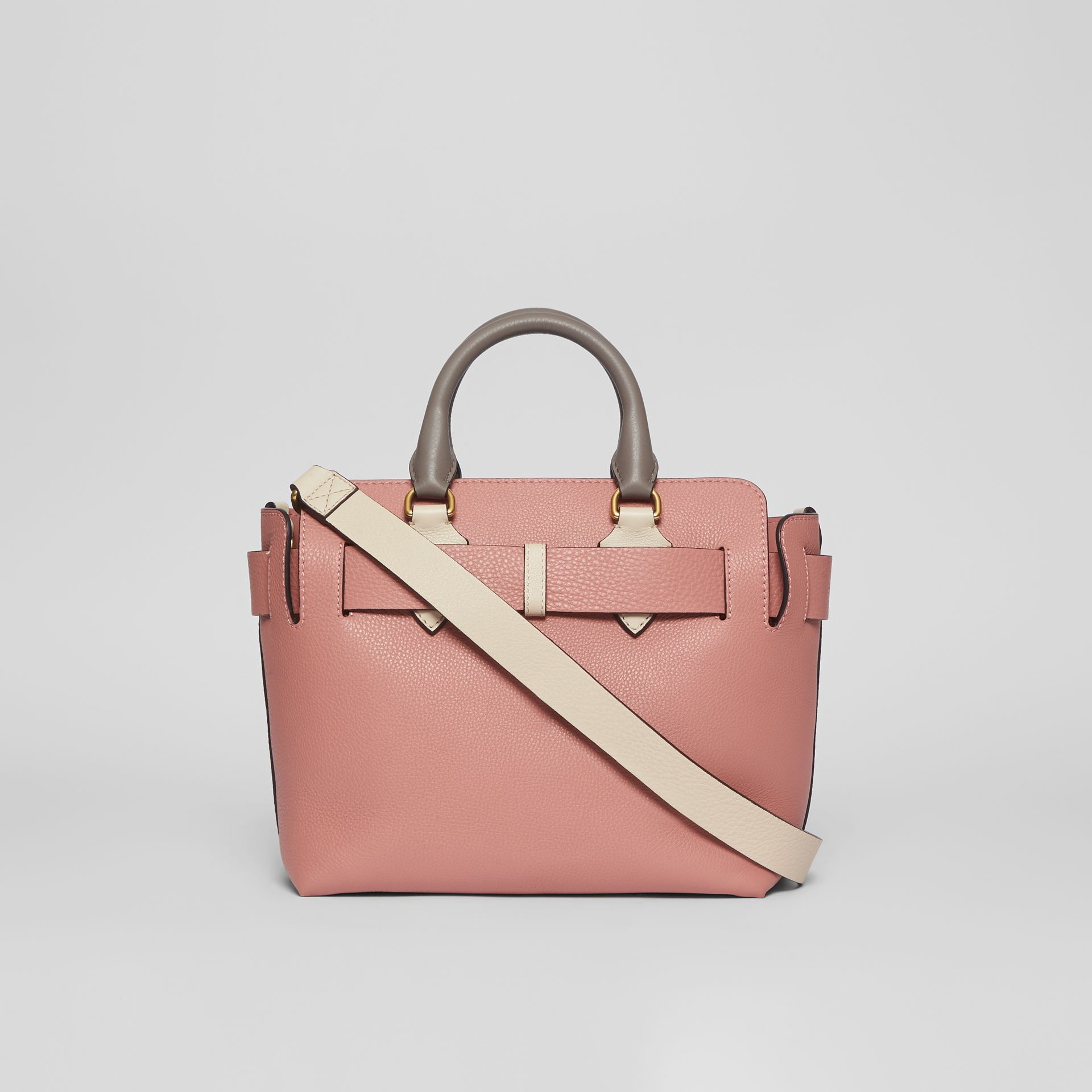 The Small Tri-tone Leather Belt Bag in Limestone/dusty Rose - Women | Burberry Australia - gallery image 7