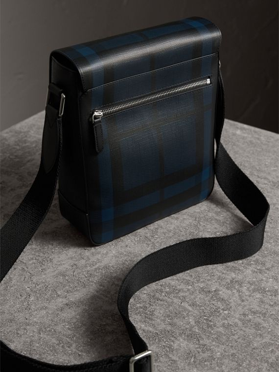 London Check Crossbody Bag in Navy/black - Men | Burberry United Kingdom - cell image 3