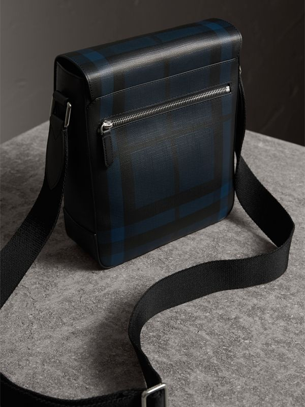 London Check Crossbody Bag in Navy/black - Men | Burberry United States - cell image 3