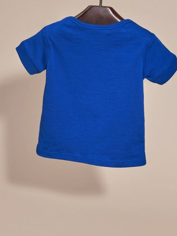 Check Pocket T-Shirt in Brilliant Blue | Burberry - cell image 3