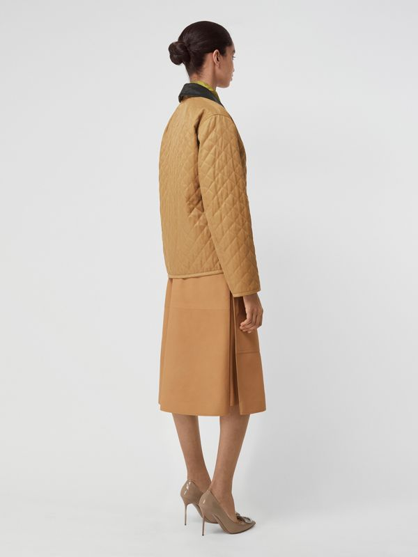 Diamond Quilted Barn Jacket in Camel - Women | Burberry - cell image 2