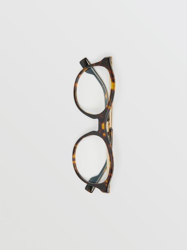 Round Optical Frames in Tortoise Shell - Women | Burberry - cell image 3