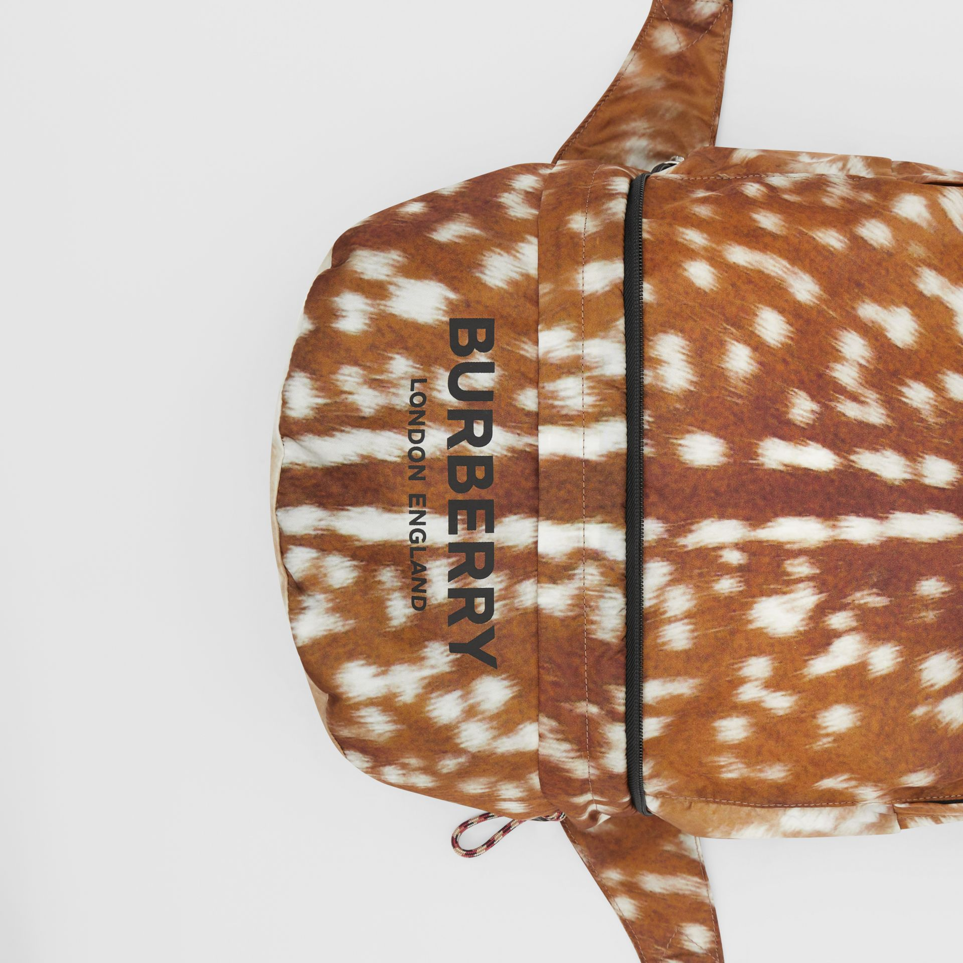 Deer Print Convertible Bum Bag in Tan/white | Burberry - gallery image 11