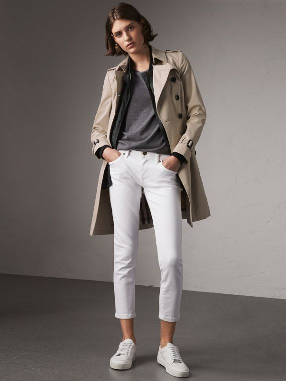 The Chelsea – Mid-length Trench Coat in Stone