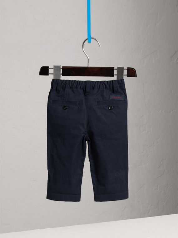 Check Cuff Chinos in Ink - Boy | Burberry - cell image 3