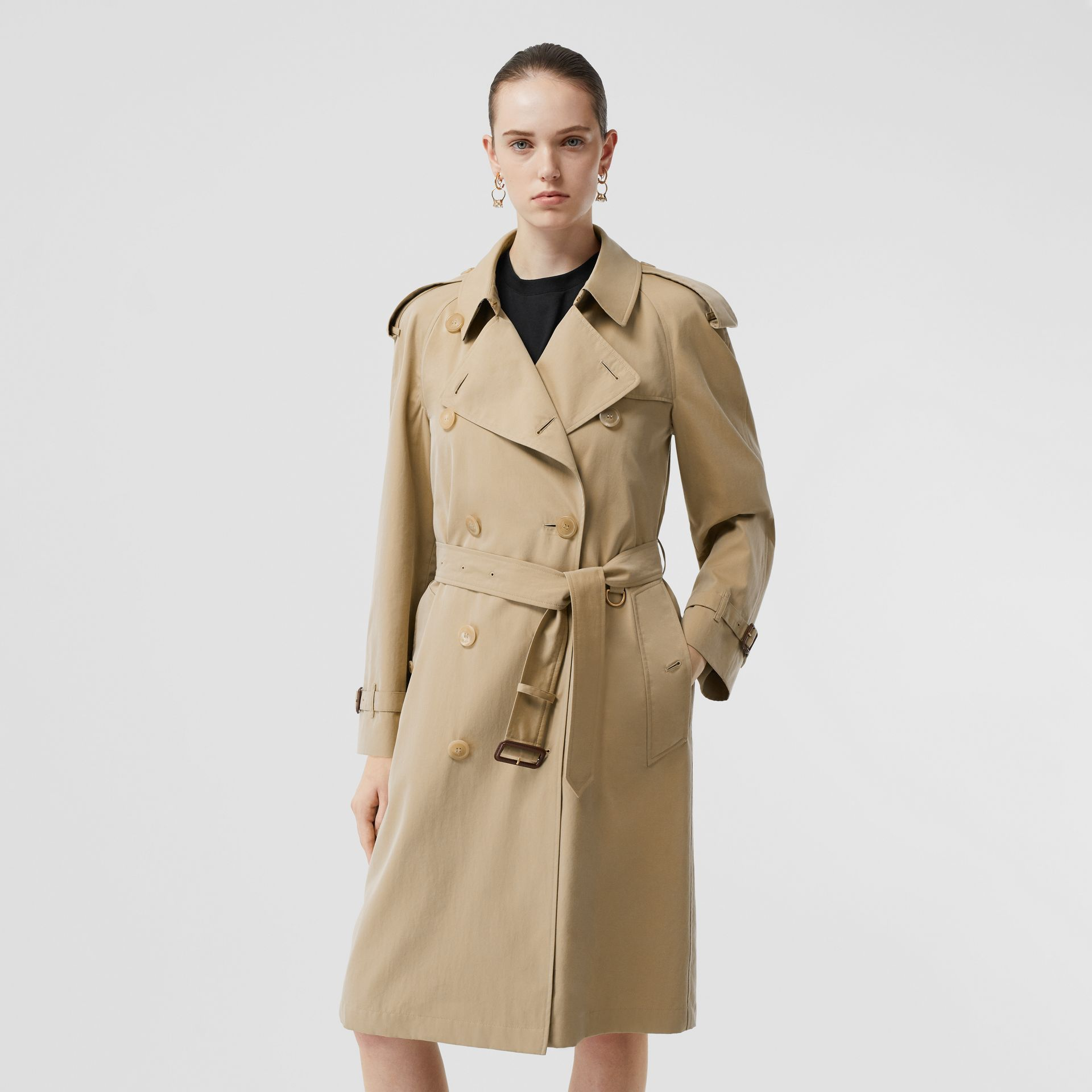 The Mid-length Westminster Heritage Trench Coat in Honey - Women | Burberry Australia - gallery image 7